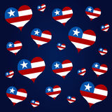 American hearts Royalty Free Stock Photos