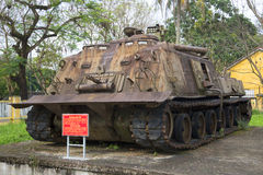 American heavy tank. The Museum of the city of Hue, Vietnam stock photos