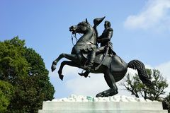 American hero and president leads the charge. Jackson was the seventh president of the United States, serving two terms, from 1829 to 1837. Erected in 1853, the Royalty Free Stock Photo