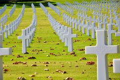 American heroes memorial cemetery in Italy  Stock Photos