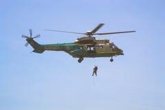 American Heroes Air Show  Los Angeles June 29 2013. LOS ANGELES, CA. -  JUNE 29  Los Angeles Sheriffs Department - Eurocopter AS332L1  American Heroes Air Show Royalty Free Stock Photos