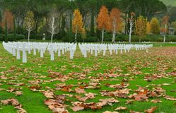 American heroes cemetery in Tuscany, Italy Stock Photography