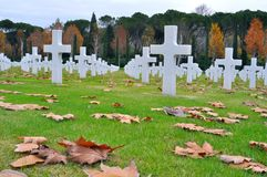 American heroes cemetery in Tuscany, Italy Royalty Free Stock Image