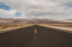 American Desert Highway Royalty Free Stock Image