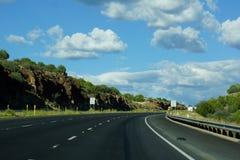 American highway beautiful landscape stock image