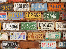 American Historical automobile license plates Royalty Free Stock Image