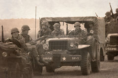 American historical Jeeps Royalty Free Stock Photo