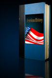 American History book. On display with back light Royalty Free Stock Photography