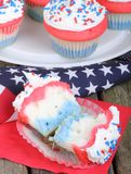 American Holiday Cupcake Stock Image