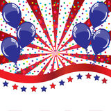 American holidays background with balloons Royalty Free Stock Photo