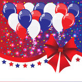 American holidays background with balloons. (American flag colors Stock Photos