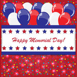 American holidays background with balloons. (American flag colors Royalty Free Stock Photo