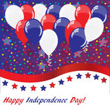 American holidays background with balloons. American flag colors Stock Photos