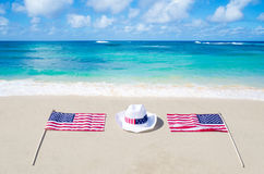 American holidays background with hat Stock Image