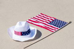American holidays background with hat Royalty Free Stock Photo