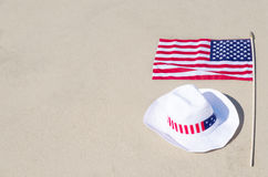 American holidays background with hat Royalty Free Stock Images