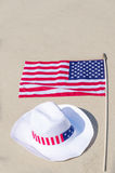 American holidays background with hat Stock Photos