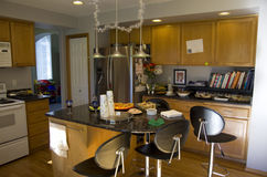 American home kitchen interiors Royalty Free Stock Images