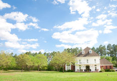 American Home: Southern-Style Mansion Royalty Free Stock Images