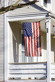 American Home with us flag Royalty Free Stock Photography