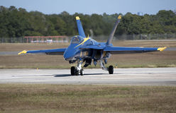 American Hornet fighter jet on a runway Royalty Free Stock Photos