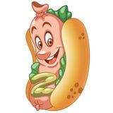 Cartoon hot dog Stock Photos