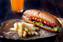 American hot dog Royalty Free Stock Images