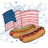 American hot dog vector Royalty Free Stock Photos