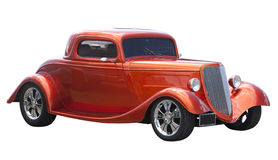American hot rod isolated on white Royalty Free Stock Photography