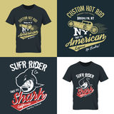 American hot rod old grunge effect Royalty Free Stock Photos