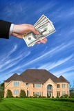 American house. A brand new house for sale Stock Image