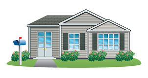 Vector american house. Vector illustration of American house isolated on white background Stock Photo