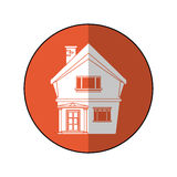 American house domestic chimney circle. Vector illustration eps 10 Stock Photos