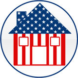 American House Icon. An iollustration of an American house Stock Photos