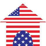 American house icon Royalty Free Stock Images