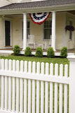 American house on Memorial Day Stock Images