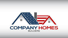 American Houses Logo Business Card Stock Photos