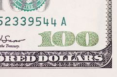 American Hundred dollar banknote Stock Images