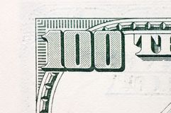 American Hundred dollar banknote Royalty Free Stock Images