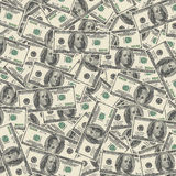 American hundred dollar bills Royalty Free Stock Images