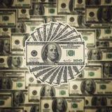 American hundred dollar bills. Background with American dollar bills Stock Photography