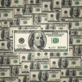 American hundred dollar bills Stock Images
