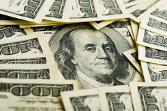 American hundred dollar bills Royalty Free Stock Photography