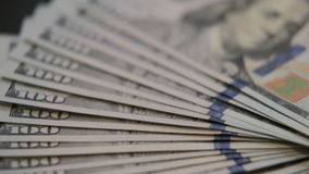 American hundred dollar bills. stock footage