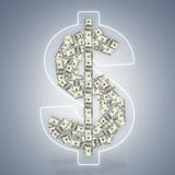 American hundred dollar bills Stock Photos
