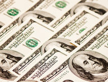 American hundred dollar notes Royalty Free Stock Photography