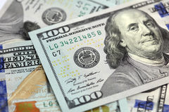 American Hundred Dollar Notes Stock Photography