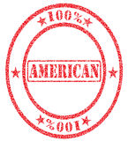 American hundred percent. Grungy ink stamp - vector format very easy to edit Royalty Free Stock Photography