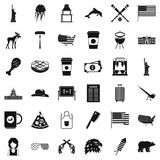 American icons set, simple style Stock Images