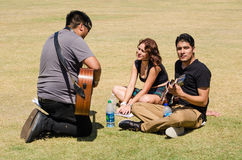 American Idol prover Arkivbild